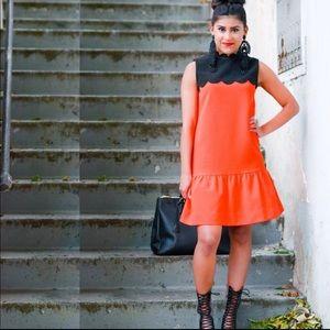 Victoria Beckham Sz XS 2-4 Target red black  dress